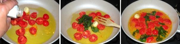 spaghetti volgole e pomodorini_procedimento3