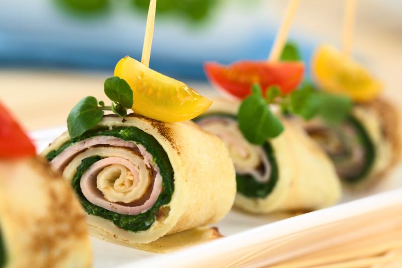 crepes con spinaci e prosciutto