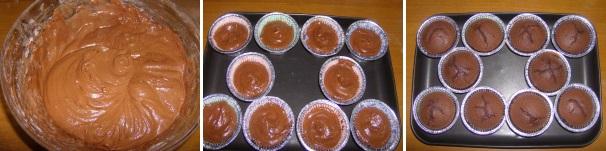 cupcake al cioccolato mascarpone_procedimento3