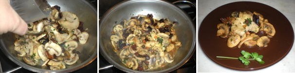 funghi con pomodori secchi_procedimento4