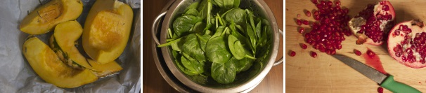 insalata con zucca spinaci e formaggio_procedimento2