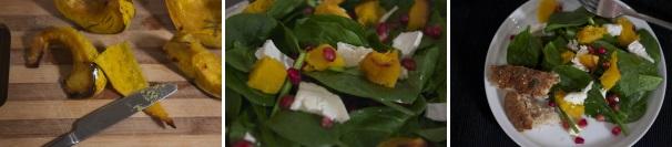 insalata con zucca spinaci e formaggio_procedimento3