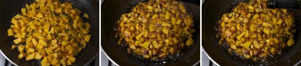 pasta con zucca, gamberetti e nocciole_procedimento2