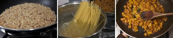 pasta con zucca, gamberetti e nocciole_procedimento3