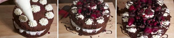 torta al cioccolato con frutti rossi_procedimento5