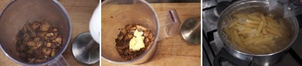 pasta con funghi pancetta uvetta_procedimento4