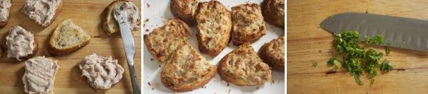 crostini di pane con crema alla salsiccia_procedimento3