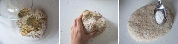 piadine con pasta madre ed erbe_procedimento3