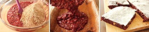 brownie con barbabietole_procedimento5