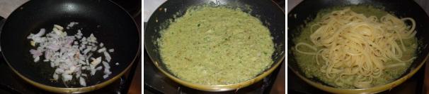 linguine con crema di carciofi_procedimento3