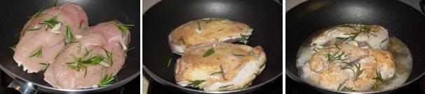 petto di pollo al vino_procedimento2