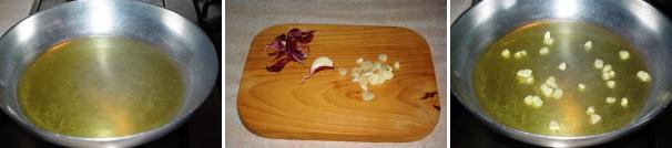 spaghetti aglio e olio_proc1