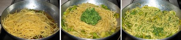 spaghetti con fave e pesto_procedimento3