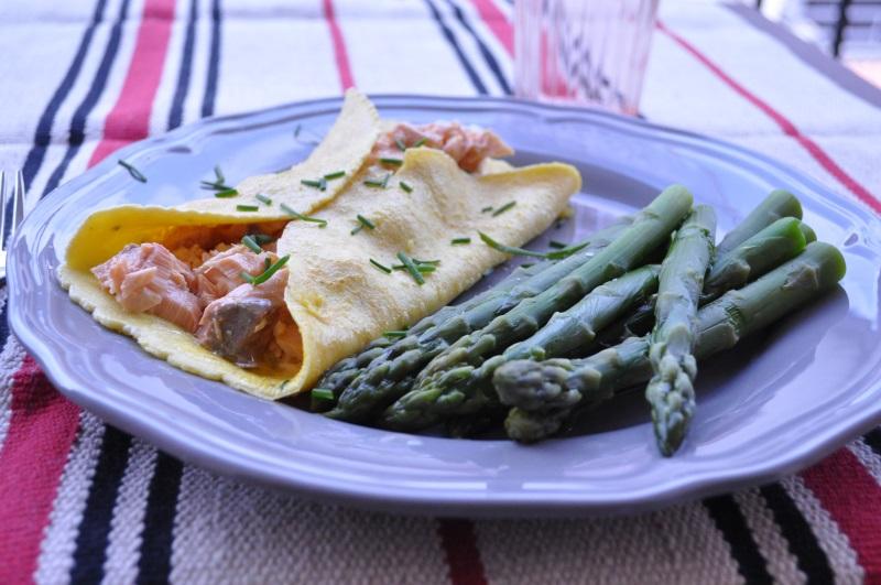 Ricetta Omelette Salmone.Omelette Con Salmone Affumicato E Chevre Senza Lattosio