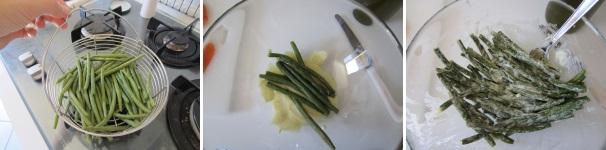 fagiolini con aglio e salmone_proc3