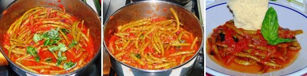 fagiolini con pomodoro e basilico_proc3