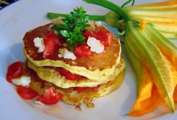 pancakes ai fiori di zucca_