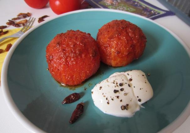 pomodori cotti con chili indiano_
