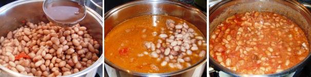 zuppa di fagioli borlotti_proc3
