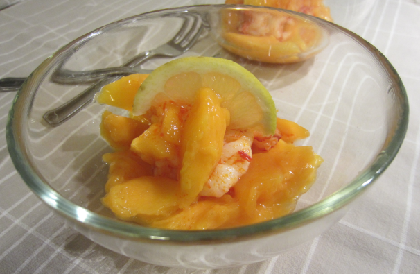 gamberi e mango_