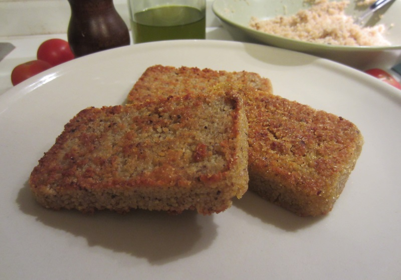 mattonelle di couscous fritte