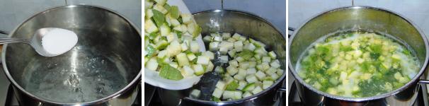 minestra di pasta e zucchine_proc2
