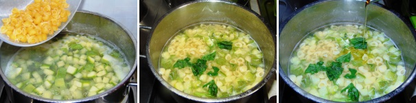 minestra di pasta e zucchine_proc3