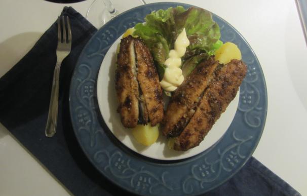 barchette di patate con aringhe fritte_