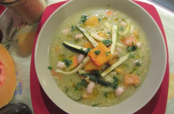 zuppa di miglio con verdure_