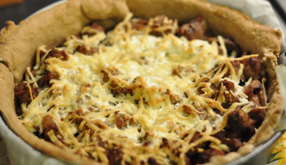 Torta di castagne e salsiccia senza glutine