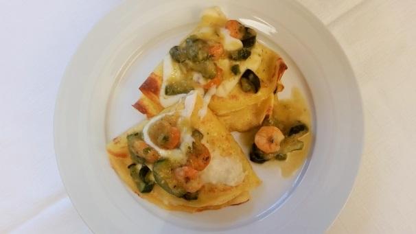 crespelle con gamberi e zucchine_