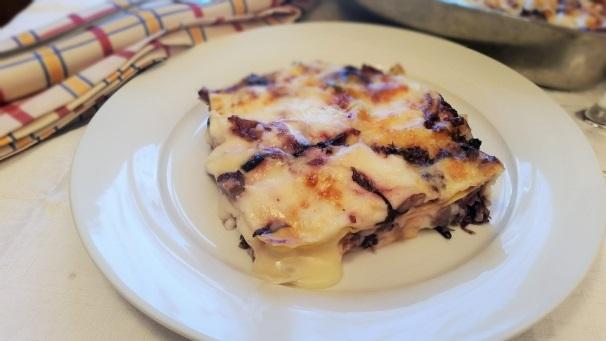 lasagne radicchio e taleggio_