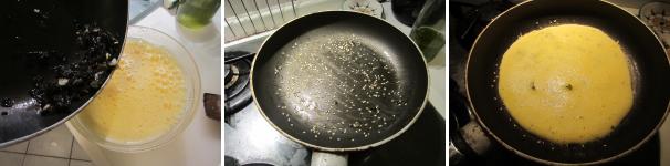 omelette con le alghe_proc4