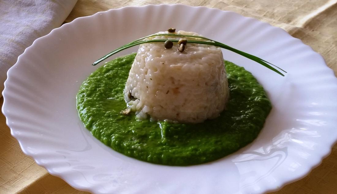 risotto al pepe verde