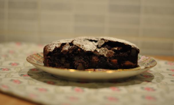 Torta di cioccolato e pere senza lattosio_