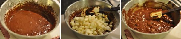Torta di cioccolato e pere senza lattosio_proc5
