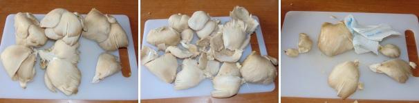 cotolette di funghi pleurotus_proc1