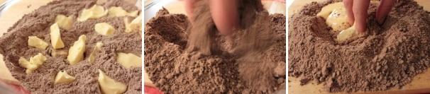 pasta frolla al cacao per biscotti_proc2