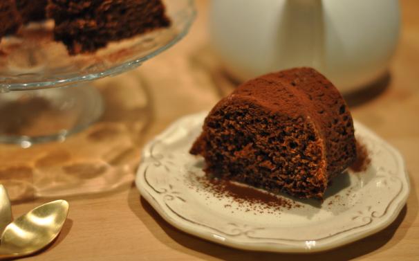 torta all'acqua con cacao_
