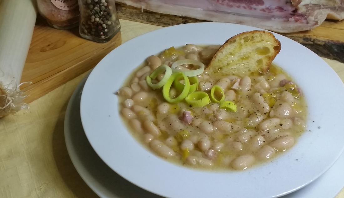 zuppa porri e cannellini