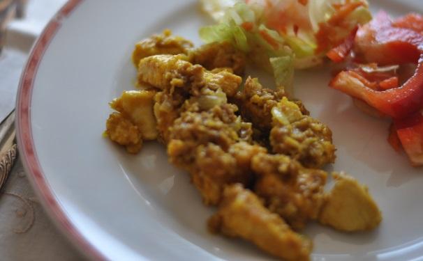Bocconcini di pollo al curry_
