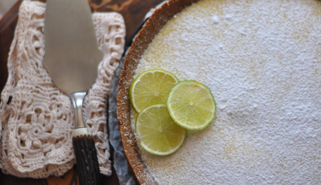 crostata cacao e lime