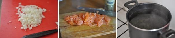risotto al salmone_proc1
