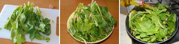 frittata di spinaci al forno_proc1