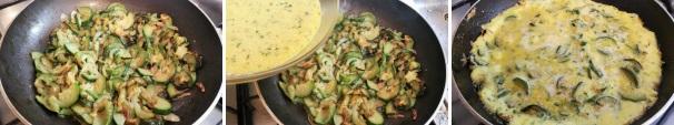 frittata di zucchine_proc7