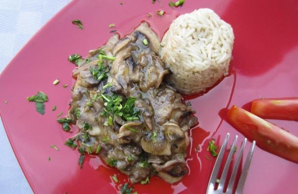 salsa di funghi champignon_