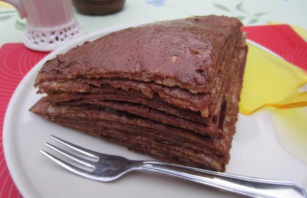 torta di crepes alla Nutella_
