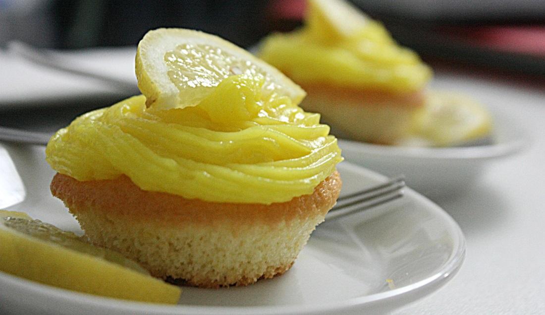 cupcake con crema al limone