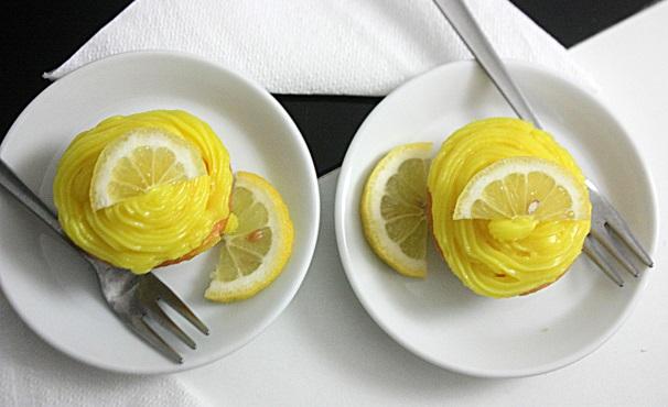 cupcakes con crema al limone_