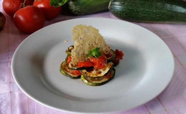 parmigiana di zucchine destrutturata_